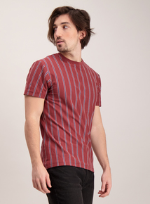 Dark Red Stripe T-Shirt