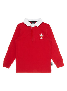 Boys Multicoloured Wales Rugby Polo Shirt (1 - 14 years)