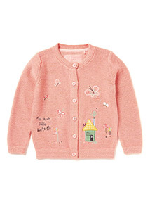 Pink Little Gardener Embroidered Cardigan (9 months-6 years)