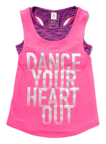 Pink Dance Vest Top and Crop Top Set (3-14 years)