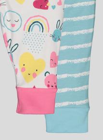 Multicoloured Rainbow Long Sleeve Pyjamas 2 Pack (0-24 Months)