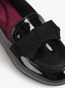 Black Patent Bow Loafer