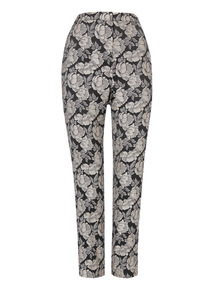 Jacquard Floral Trousers