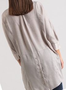 Premium Natural Button Back Satin Tunic