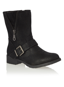 Black Biker Style Boots