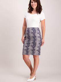 Snake Print Pull On Skirt