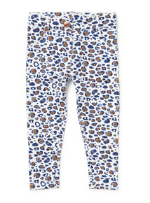 Multicoloured Leopard Print Jeggings (9 months-6 years)