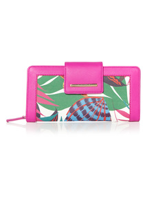 Tropical Printed Purse