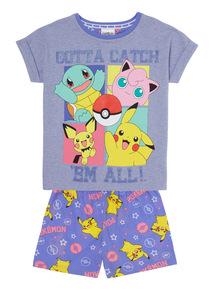Multicoloured Pokemon Pyjama Set (4 - 12 years)