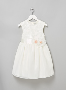 Cream Floral Sequinned Bridesmaid Dress (3-14 years)
