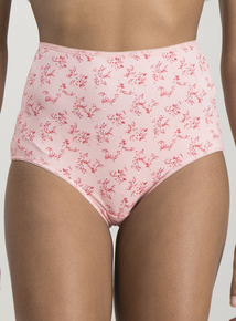 Multicoloured Floral Print Knickers 5 Pack