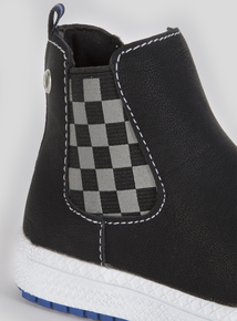 Checkered High Top Boot (6 Infant-4 Child)