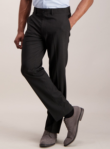 Online Exclusive Black Textured Tailored Fit Trousers