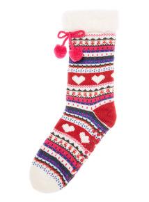 Knitted Fairisle Socks