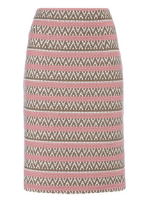 Multicoloured Pencil Skirt
