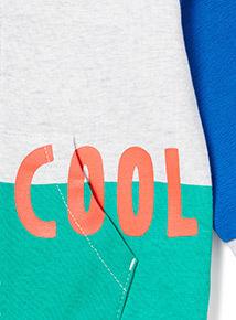 Multicoloured Block 'Cool' Print Sweatshirt (9 months-6 years)