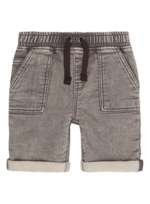 Black Acid Wash Sweat Shorts (9 months - 6 years)