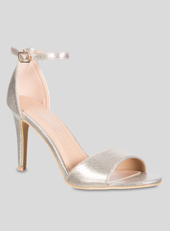 6fc738185bc0 Brands Online Exclusive Gold Ankle Strap High Heeled Sandal