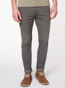 Grey Denim Wash Skinny Jeans