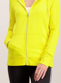 Bright Yellow Zip Up Hoodie