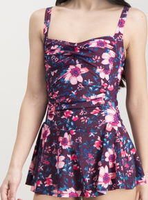 Online Exclusive Multicoloured Floral Skirted Swimsuit