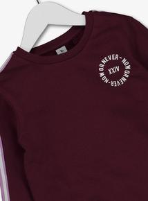 Purple Taped Sweatshirt (4-14 Years)