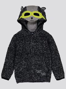 Grey Raccoon Hoodie (9 Months - 6 Years)