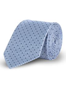 Online Exclusive Light Blue Geometric Tie