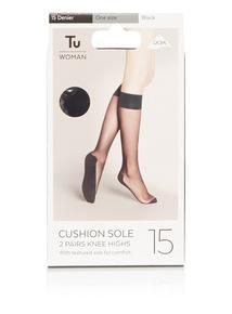 2 Pack Cushioned Sole Knee High Socks