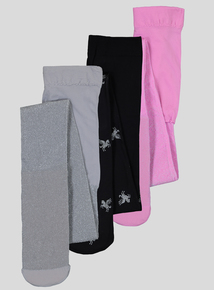 Multicoloured Unicorn Opaque Tights 3 Pack (2 - 12 years)