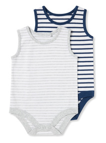 2 Pack Multicoloured Vests (Newborn-36 months)
