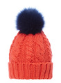 Thumbnail of SKU: SS17 RED BEANIE WITH NAVY POM:Red:One Size