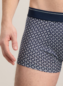 Navy Blue Geometric Patterned Hipsters 3 Pack
