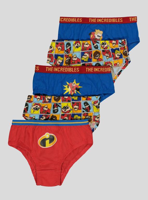 4879c3258573b Kids Disney Pixar Incredibles 2 Multicoloured Briefs 5 Pack (2-10 years) |  Tu clothing