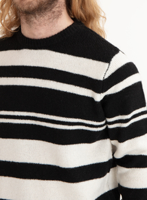 GFW Black & Cream Striped Jumper