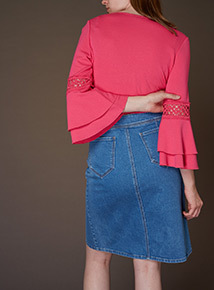 Premium Double Fluted Sleeve Top