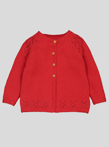 Red Heart Detail Cardigan (0-24 months)