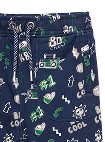 Navy All Over Print Joggers (9 months-6 years)