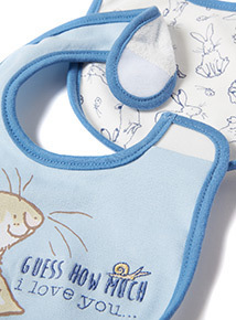 2 Pack Blue 'Guess How Much I Love You' Bibs