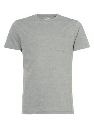 Khaki Fine Stripe Crew T-shirt