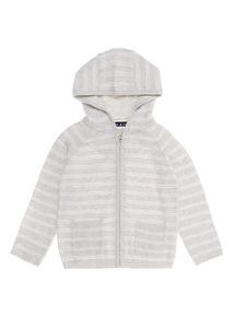 Grey Striped Cardigan (0 - 12 months)