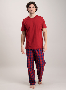 Red Check Cotton Pyjamas