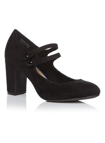 Black Block Heel Mary Janes