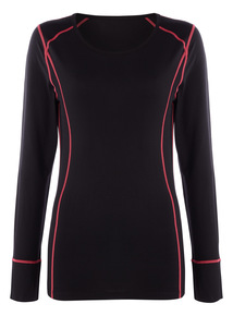 Black Thermal Base Layer Sport Top