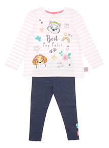 Pink Paw Patrol Top and Leggings Set (9 months-6 years)