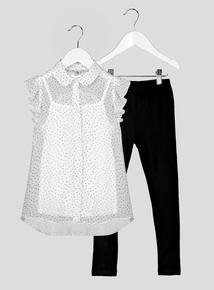 Black & White Polka Dot Set (3-14 years)