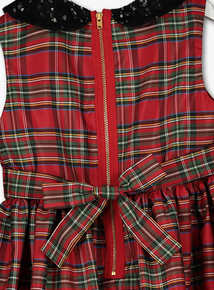 Red Tartan Occasion Dress (3-14 years)