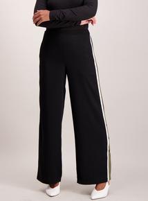 Black stripe wide leg trouser
