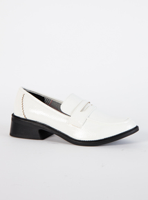 White Patent Loafers