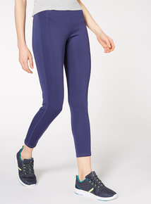 Blue Stripe Active Leggings